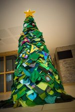 Christmas tree created by the St Mike's Yarn Bombers (SMYB) of Stoke Gifford, Bristol.