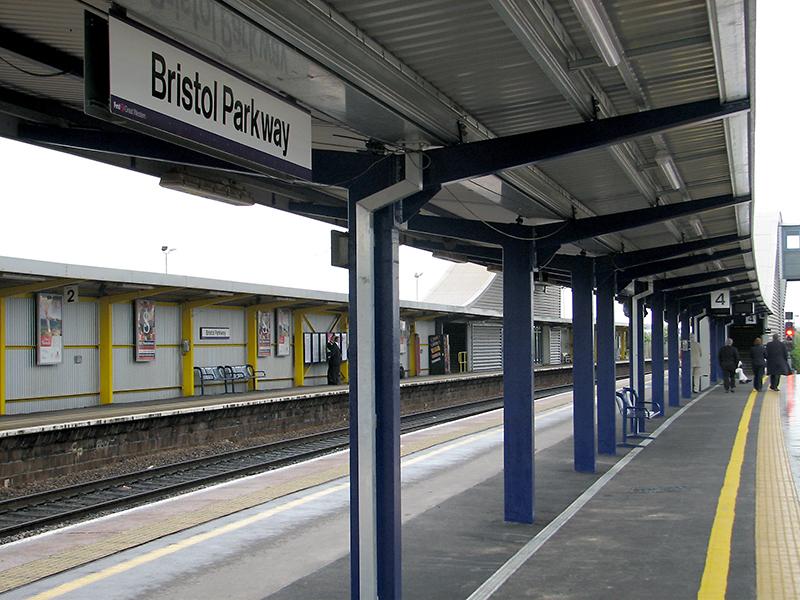 Platforms at Bristol Parkway Station.