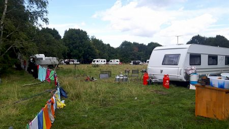 Unauthorised traveller encampment at Forty Acres, Stoke Gifford.