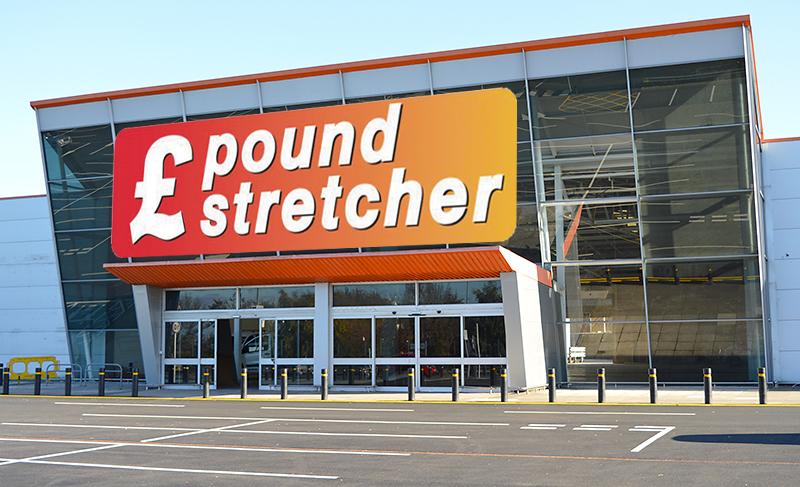 Mock up of Poundstretcher signage on Unit 2B.