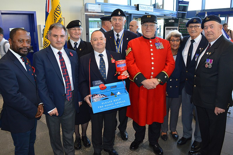 Photo of branch members at the Poppy Appeal launch.