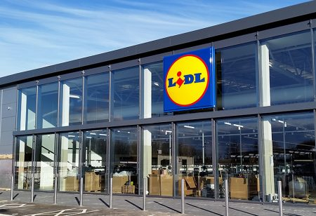 Photo of the soon-to-open Lidl store.