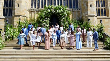 Photo of The Kingdom Choir outside St George's Chapel, Windsor.