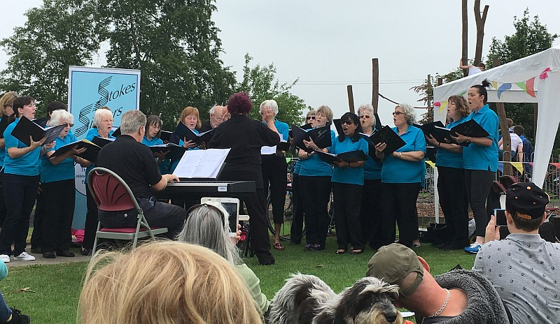 Stokes Singers perform at the Stoke Gifford Fête.