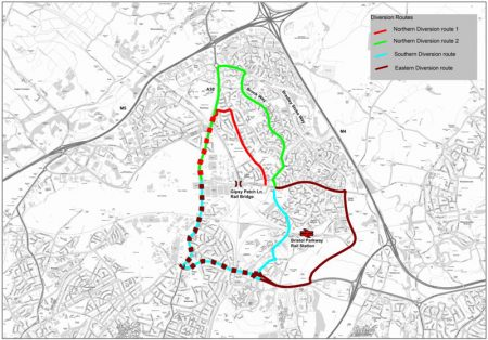 CPME Gipsy Patch Lane diversion routes.
