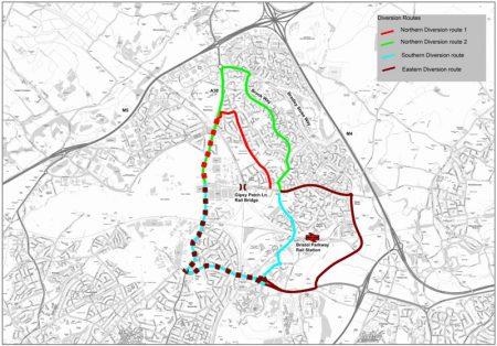 CPME Gipsy Patch Lane diversion routes.