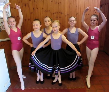 Students of Stoke Gifford School of Dance at an exam session.