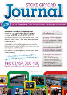 Stoke Gifford Journal magazine launch leaflet (page 2).