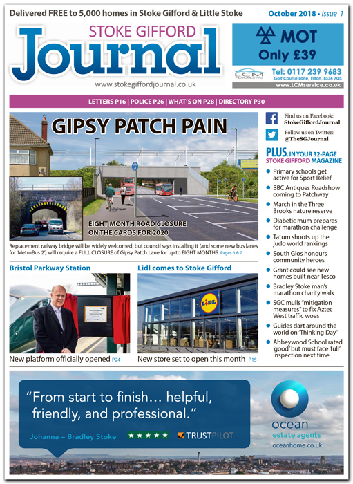 Illustrative issue of the Stoke Gifford Journal news magazine (for promotional purposes only).