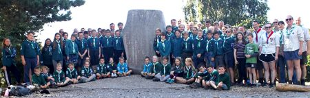 Photo of members of 1st Stoke Gifford Scout Group on Brownsea Island.