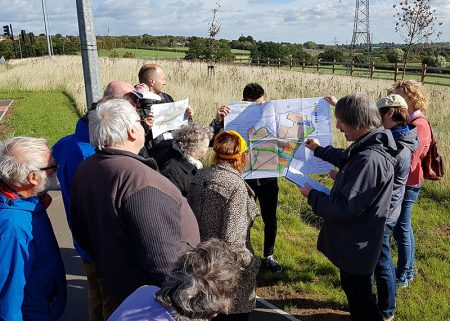 Photo of councillors and officials at the recent site inspection meeting for the Crest 'south' planning application.