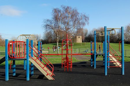 Photo of a children's play area in Meade Park.