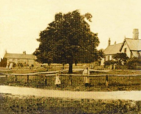 View of The Green in Stoke Gifford 'village'. The old post office can be seen in the left of the picture