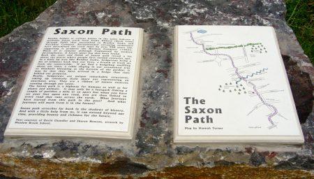 Living Landscapes plaques about the Saxon Path.