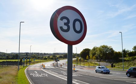 30mph sign on the Stoke Gifford By-Pass.