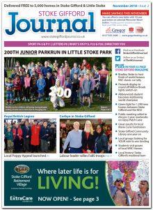 November 2018 issue of the Stoke Gifford Journal news magazine.