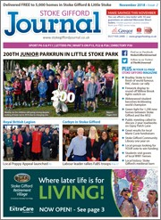 November 2018 issue of the Stoke Gifford Journal magazine.