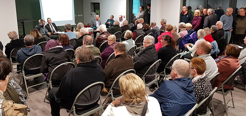 Photo of the public meeting held at Little Stoke Community Hall.