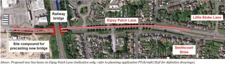 Annotated plan of the proposed works on Gipsy Patch Lane for the CPME scheme.
