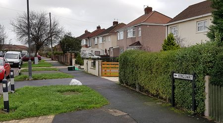 Photo looking north up Kingsway from Gifford Crescent.