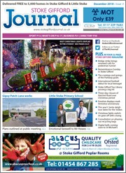 December 2018 issue of the Stoke Gifford Journal magazine.