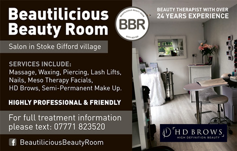 Beautilicious Beauty Room, Stoke Gifford.