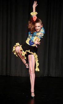 Photo of Grace Cousins dancing.