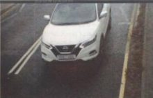 ANPR camera view of a vehicle leaving the station at the Hatchet Road end.