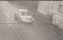 ANPR camera view of a vehicle entering the station from the Hunts Ground Road end.