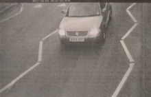 ANPR camera view of a vehicle leaving the station at the Hunts Ground Road end.
