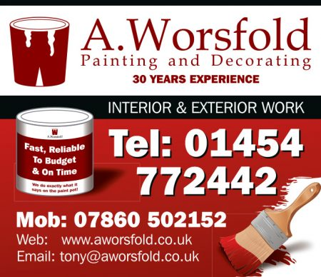 A. Worsfold: Painting and decorating in Stoke Gifford and Little Stoke.