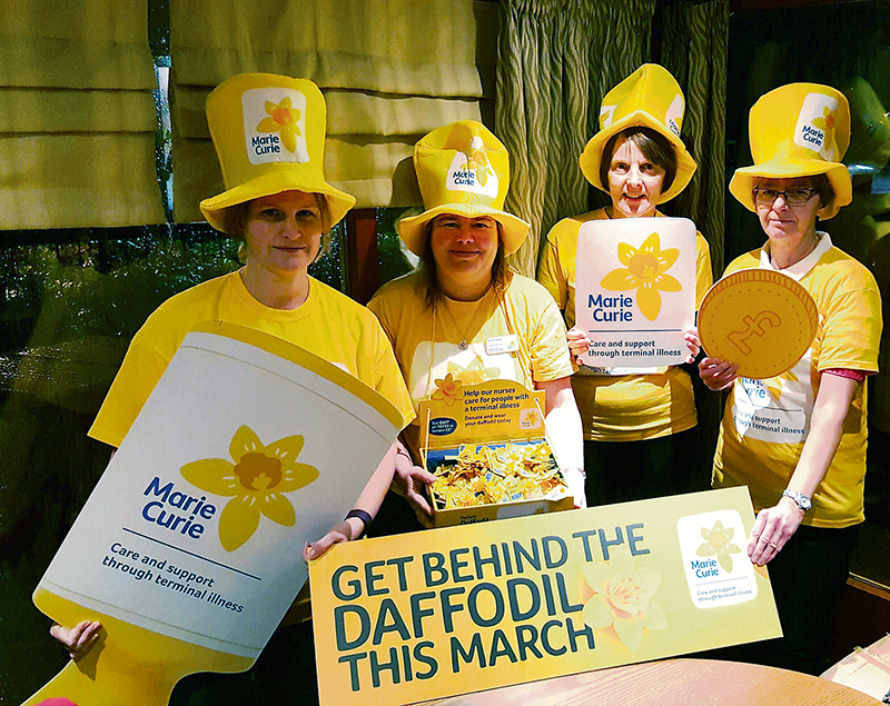 Photo of members of the Marie Curie Five Stokes Fundraising Group.