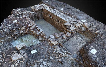 3D-model of a stone-built sunken water tank.