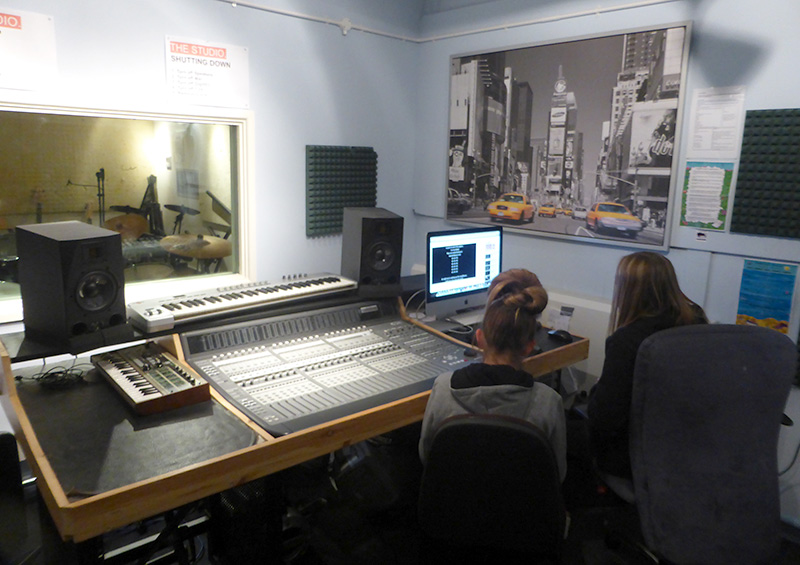 Photo of the music studio at The Stokes Youth Centre.