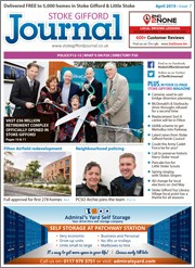 April 2019 issue of the Stoke Gifford Journal magazine.