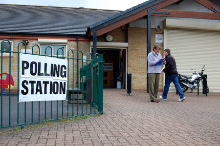 Photo of a polling station.