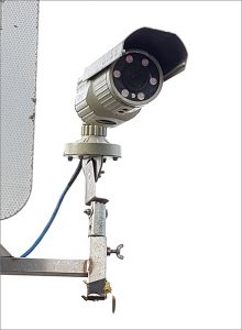 Photo of a traffic survey camera on Hatchet Road, Stoke Gifford.