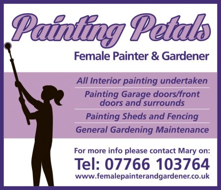 Painting Petals: Female painter and gardener in Stoke Gifford, Bristol.