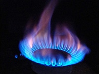 Gas flame [photo by Karen Eliot; licence CC BY-SA 2.0].