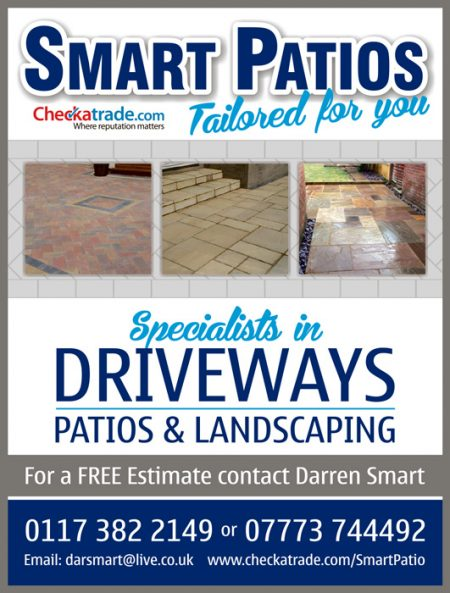 Smart Patios for driveways, patios and landscaping in Stoke Gifford and Little Stoke, Bristol.