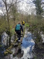 Duke of Edinburgh Award scheme expedition by students at Abbeywood Community School.