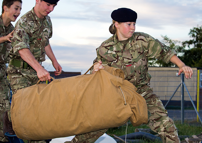 Photo of Cdts Bishop,Massey and Porter performing a Command Task.