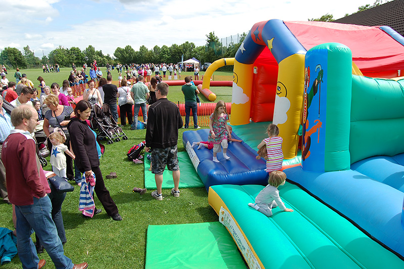 Photo showing a general view of Stoke Gifford Jubilee Fête on Monday 4th June 2012.