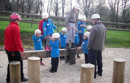 Photo of Beaver Scouts taking part in an activity.