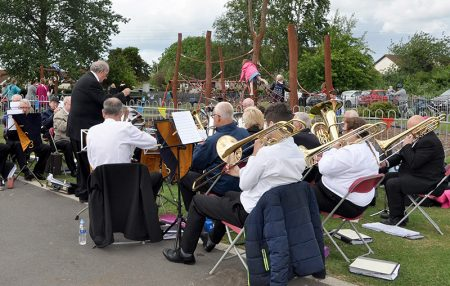 Photo of Filton Concert Brass playing at the fête.