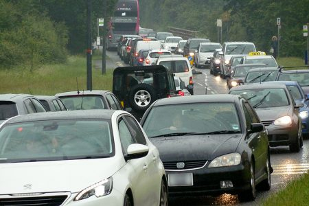 Photo of gridlocked traffic on Bradley Stoke Way on the morning of 25th June.