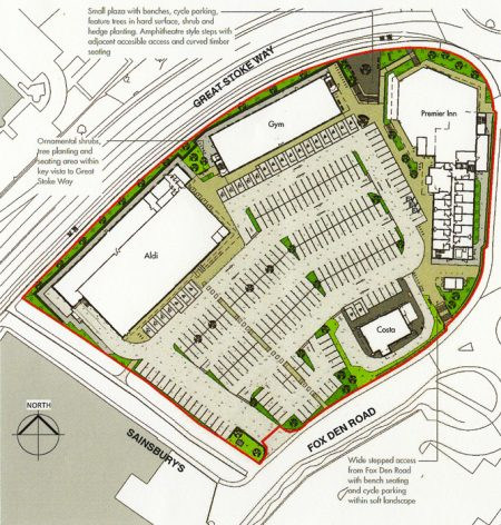 Site map of proposed development.