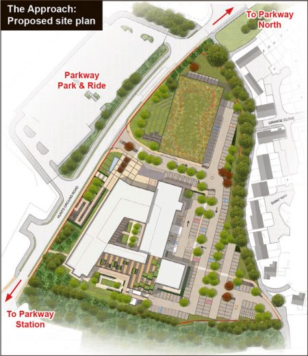 The Approach: Proposed site plan.