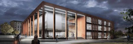 Visualisation of the new engineering building.