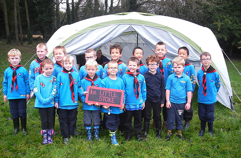 Photo of the Beavers on camp at Woodhouse Park.